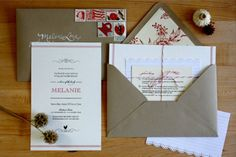 Invitations: rustic mix of cardstock, index cards, paper punching & bakers twine. Photo Credit: @100LayerCake
