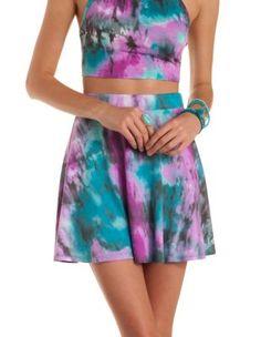 Tie-Dye Skater Skirt