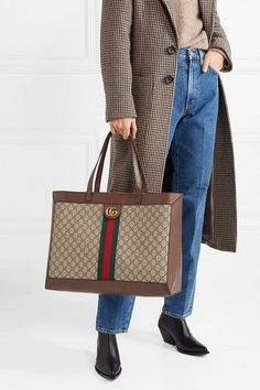 6eb606683084 Gucci ophidia textured leather-trimmed printed coated-canvas tote. #gucci # bags