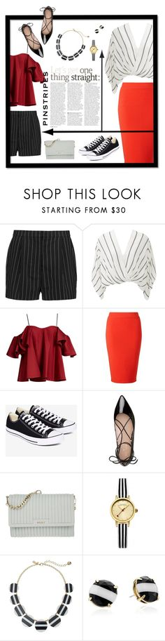 """""""Art is the proper task of life."""" by kimxsy ❤ liked on Polyvore featuring STELLA McCARTNEY, Free People, Anna October, Miss Selfridge, Converse, Kate Spade, DKNY, Johnny Loves Rosie, classic and redandblack"""