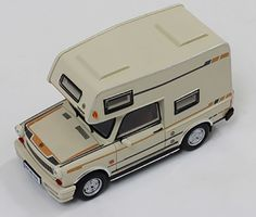 """TRABANT 601 """"Wohnmobil"""" 1980 Beige - Resin - Street cars - Car models - Die-cast 