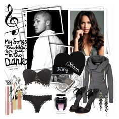 """My songs know what you did in the dark"" by julyralewis ❤ liked on Polyvore featuring GALA, Charlotte Russe, Calvin Klein, Victoria's Secret, First People First, AERIN, Too Faced Cosmetics and Jana Reinhardt"