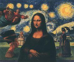 Mona Lisa, History of Art Time Traveler, pop art.