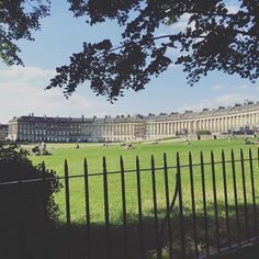 What a stunning street to live on. The Royal Crescent in Bath.