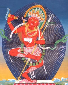 Dakini Vajravarahi One day Jomo Menmo found herself standing in front of the entrance to a secret cave in the mountain side. She entered the cave immediately and with a sense of keen enthusiasm. Once inside the cave a Vision unfolded in which Yeshe Tsogyel manifested in a phantasmagorical variety of guises. These Visions melted into each other until they coalesced into the form of Yeshe Tsogyel as Dorje Phagmo.