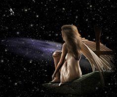 Wish upon a star...#faerie #fairy #B/W