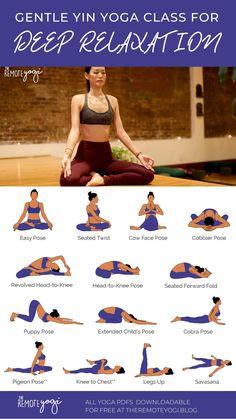 Sitting Yoga Poses, Yin Yoga Poses, Basic Yoga Poses, Restorative Yoga Sequence, Yin Yoga Sequence, Yoga Sequences, Relaxing Yoga, Deep Relaxation, Beginning Yoga