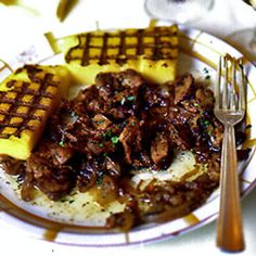 Calf's Liver and Onions Recipe - Saveur.com  When we visited Venice, we asked the locals where to find the definitive calf's liver and onions. Everyone said Harry's Bar, and, after trying it there—and lots of other places—we had to agree. This is Harry's recipe.