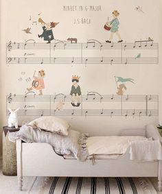 Minueto en G mayor de Bach. Un clásico en la pared de su habitación #decoracion #kids