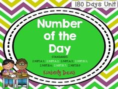 Place Value Number of the Day- Sample Math Place Value, Place Values, Daily Activities, Math Lessons, Numbers, Day, Places, Everyday Activities, Lugares