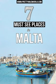 Don't miss out these top 7 places in Malta you must not miss! Travel to Malta, Gozo, and Comino Islands!