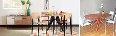 Más allá de si te gustan las mesas redondas o rectangulares, el porqué de su forma también responde al tipo de espacio en el que puede estar ubicada. Mesas redondas. cómo escoger mesa. mesa. mesas. mesa rectangular. mesa cuadrada.