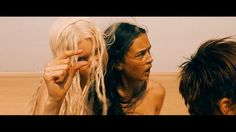Mad Max: Fury Road Mad Max: Fury Road -- Abbey Lee as The Dag and Courtney Eaton as Cheedo the Fragile Tom Hardy Mad Max, Megan Gale, Abbey Lee Kershaw, Courtney Eaton, The Road Warriors, Bleach Blonde Hair, The Neverending Story, Mad Max Fury Road, Beautiful Film