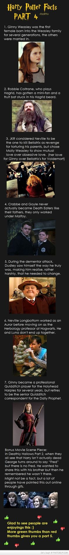 Harry Potter Facts Part Four