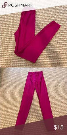 Fuchsia neon nylon American Apparel leggings Fuchsia neon nylon American Apparel leggings (ankle length) American Apparel Pants Leggings