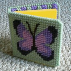 Plastic Canvas Butterfly Memo Pad Cover (from Annie's Attic pattern booklet)