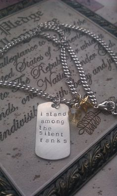 Among the Silent Ranks - Military Wife Necklace