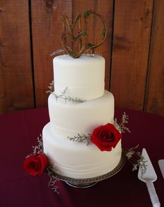 Country Wedding Cake by Windy City Cakery  Orcutt, CA