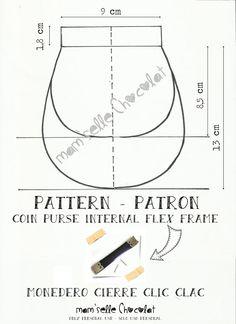 Patrón Monedero Cierre Clic Clac - Pattern Coin Purse Internal Flex Frame