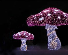Holiday Outdoor Large LED Light Mushroom for Sale Light Decorations, Christmas Decorations, Outdoor Decorations, Mushroom Lights, Christmas Train, Light Project, Holiday Lights, Spray Painting, Outdoor Lighting