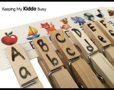 Alphabet Objekte PREMIUM Montessori von KeepingMyKiddoBusy