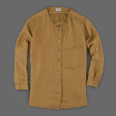 Bellerose Cancun Shirt in Olive Angle1