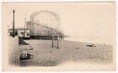 Old Redondo Beach Pier roller coaster.