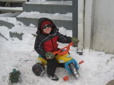 "Jeni Hammer of Franklin says ""Kasen Hammer stylin and chillin in the snow."" #WHSVsnow"