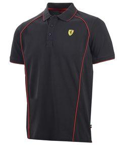 Koszulka Polo Ferrari Track Polo - Black CZARNY | FERRARI MEN \ POLO | Fbutik | Scuderia Ferrari Collection