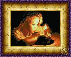 The Girl With A Candle - Cross Stitch Kits by Alisena - 1036