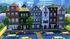 Little Amsterdam NoCC 6 Row House by una at Mod The Sims via Sims 4 Updates