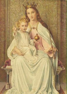 Mother Mary with the child Jesus.