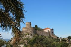 A Norman fort from 1200 in Letojanni, Sicily