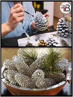 holiday crafts Some cheap ideas for Christmas Tree Projects - Christmas season is just around the corner and you may also have started some Christmas preparations. So have you thought of Christmas tree projects o. Stick Christmas Tree, Christmas Pine Cones, Rustic Christmas, Christmas Holidays, Christmas Wreaths, Christmas Ornaments, Cheap Christmas, Pinecone Christmas Crafts, Pinecone Ornaments