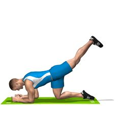 The exercise is fit for the toning up of the glutes, involving the hamstring.