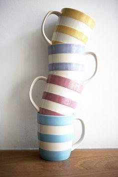 Cornishware stack