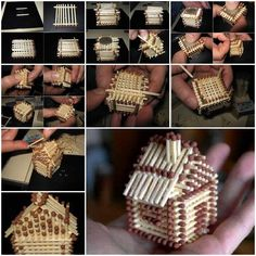 DIY Mini House with Matches