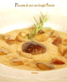 Passata di ceci con funghi porcini   Le ricette di Chefblog.it