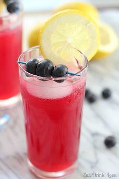 Blueberry Lemonade - Eat. Drink. Love.