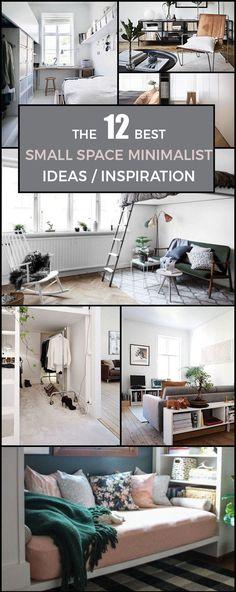 12 SMALL SPACE MINIMALIST IDEAS /INSPIRATION   Scandinavian Interior Design  #scandinavian#interior