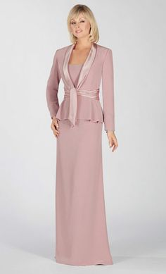 maybe something like this but tea length or just below the knee - mother of the bride dresses