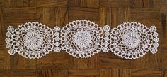 Crochet Doily Runner by Ann Reillet  ©2017 Material • Mercerized Cotton Crochet Thread, Size 20 • Steel Crochet Hook, Size 11 (1.10MM) • Scissors and Needle (for weaving in tails) Size This is a ve…