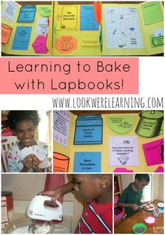 Teaching Kids to Bake with a Cooking Lapbook - So much hands-on fun for kids who are new to the kitchen!