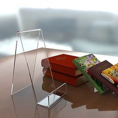 Book, plate, #phone, #tablet acrylic display #stand perspex retail cookbook holde, View more on the LINK: http://www.zeppy.io/product/gb/2/390944701452/
