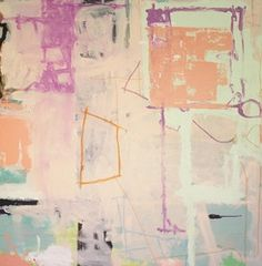 Joey Korom, Abstract Painting 15, 2013, 36 x 36, mixed media on canvas, $2,500