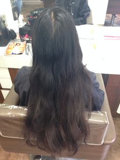 27/05/2015 Before long layers and forward graduation cut and curly blow dry.
