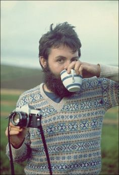 Paul McCartney with teacup. Ol' Macca was a hipster before hipsters were cool!