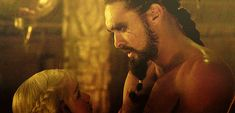 Pin for Later: 19 Times Game of Thrones's Khal Drogo Made You Happy to Be Alive When He Kisses Away All of Your Fears of Being Single Forever