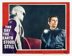 The Day The Earth Stood Still-- Do I love this one because Klatu revered Lincoln or because I long for a Gort to call my own? Fiction Movies, Science Fiction, Patricia Neal, Sci Fi Horror Movies, Turner Classic Movies, Mystery Novels, Sound Of Music, Be Still, Earth