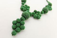 Seed Bead Flower Necklace